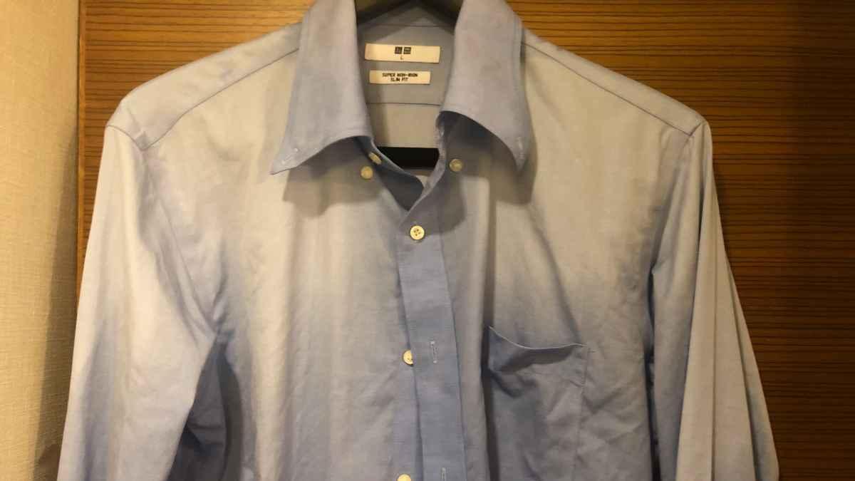 ユニクロのスーパーノンアイロンシャツ2枚で出張はOK!シワが無いのに綿100%?