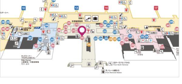 伊丹空港の551蓬莱の場所