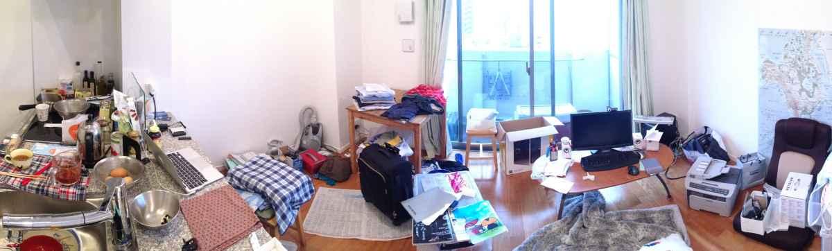 ミニマリストだけど、汚くなった部屋