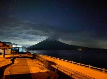 夜8時の桜島が美しい